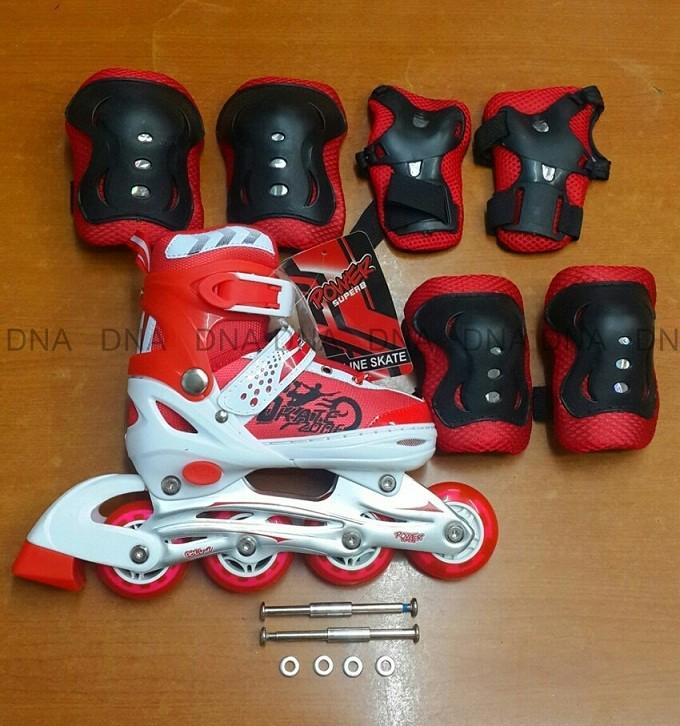 ... harga Sepatu roda power superb (bajaj) merah + deker + baut bajaj  Tokopedia. dec742a6f7