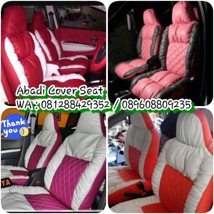 Foto Produk Sarung Jok Mobil Agya Ayla Semi Paten Model Sofa-Bhn Medium Berkwlitas dari abadi cover seat