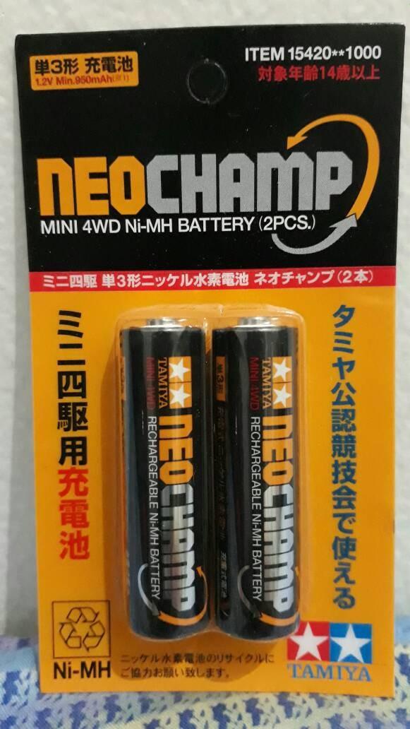 harga Tamiya mini 4wd rechargeable ni-mh battery neo champ (2pcs) Tokopedia.com