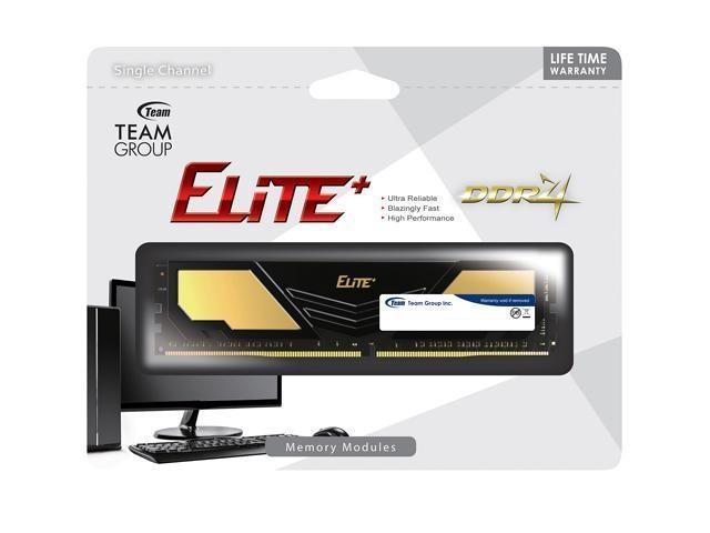 Foto Produk Team Elite Plus DDR4 PC19200 2400Mhz 4GB 16-16-16-39 - TPD44GM2400HC16 dari distributorkomputer