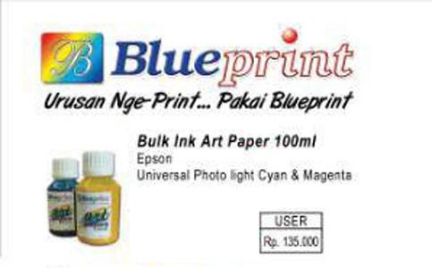 Jual tinta blueprint bulk ink art paper 100ml makassar xtream tinta blueprint bulk ink art paper 100ml malvernweather Images