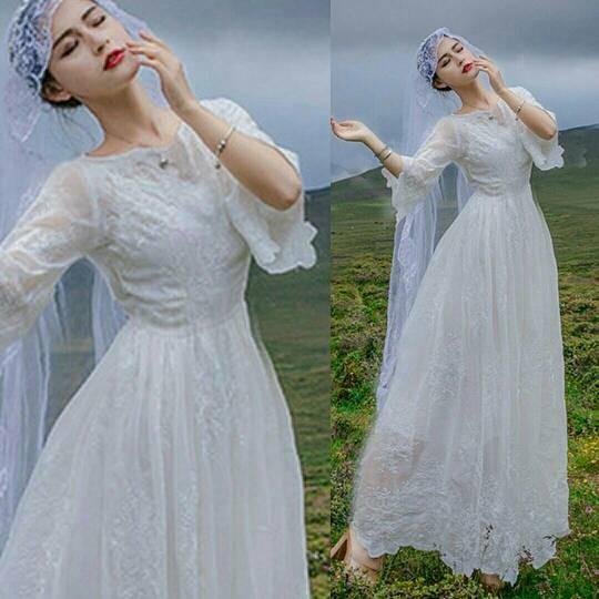Jual Gaun Pesta Pengantin Gaun Malam Long Dress Maxi Dress Mkd022021