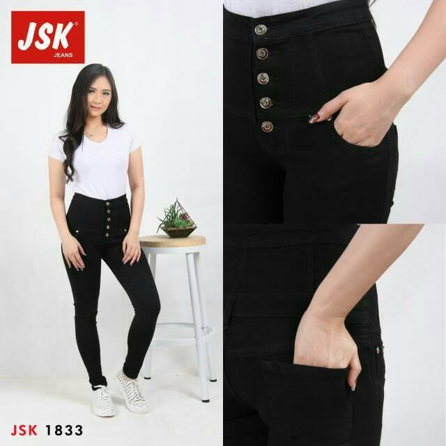 Jual Celana Jeans Wanita Highwaist 5 Kancing Jeans Cewek Original