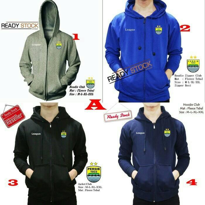 harga Jaket hoodie zipper bola persib bandung banyak pilihan warna Tokopedia.com