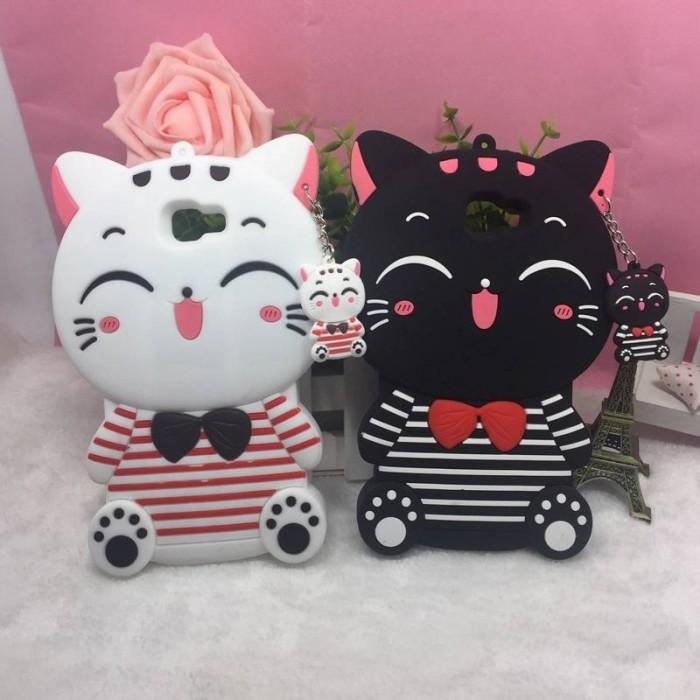 harga Silicone rubber 3d case f1s / a59 kawaii bow tie cat Tokopedia.com