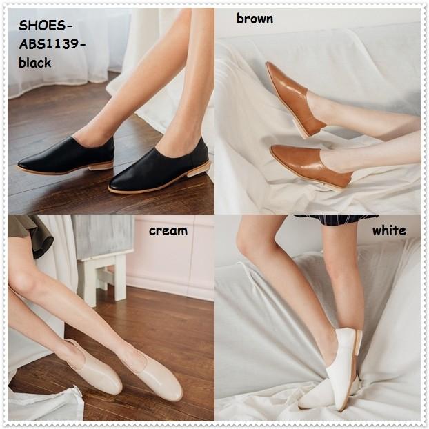 Sepatu sandal selop flatshoes flat shoes heels wanita korea import