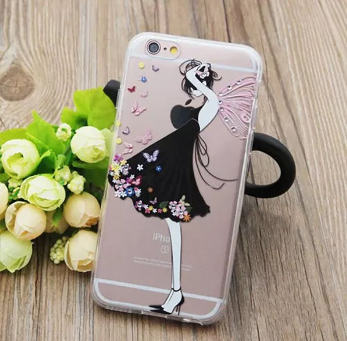 harga Casing iphone 6/6s 3d bling softcase - butterfly girl Tokopedia.com