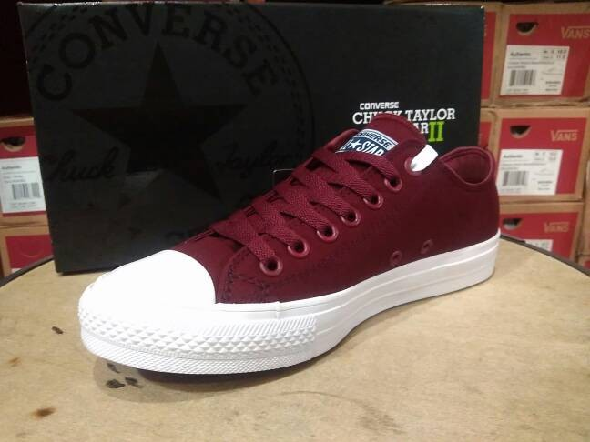 Jual Sepatu Converse All Star CT 2 Lunarlon Maroon Premium Original ... 8caf74bbbe