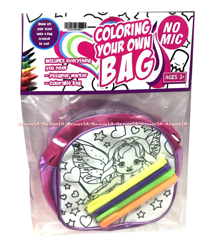 Jual Tas Mewarnai Tas Sendiri Coloring Your Own Bag Little Angel