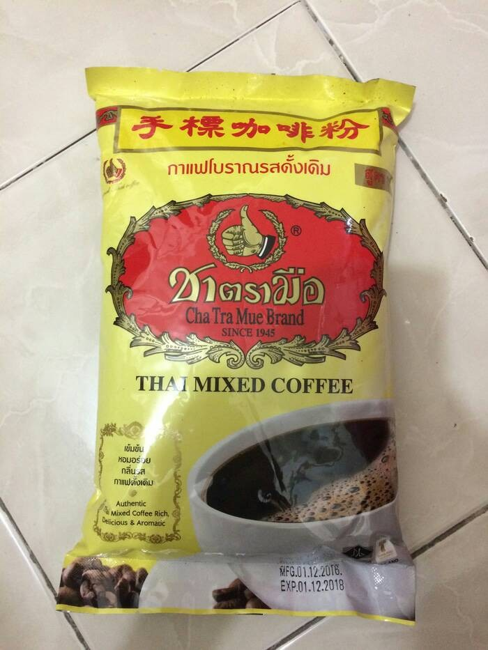 Thai Mixed Coffee Number One Brand Cha Tra Mue Original Kopi Thailand