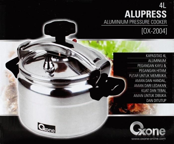 OXONE Presto Alupress Aluminium Pressure Cooker Panci 4 Liter OX-2004