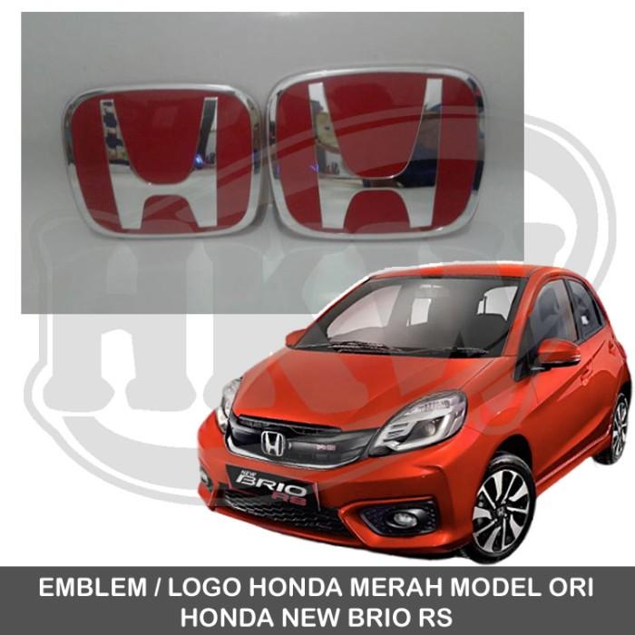 Emblem Logo Belakang Honda Brio Satya Mobil Metal Sticker Stiker Source · Hitam Emblem Logo Spoiler