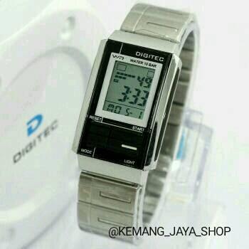 Jam Tangan Wanita Digitec DG 3022T Silver Black Original -Casio-Skmei