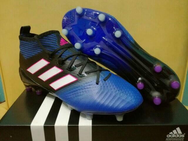 cheap for discount f651f feca0 Jual Sepatu Bola Adidas ACE 17.1 Primeknit Black Blue - FG - Kota Batam -  Poring Muda Shop | Tokopedia