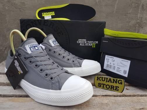 ... harga Sepatu converse all star ctii low grey white premium quality bnib  Tokopedia.com 7fb0c820eb