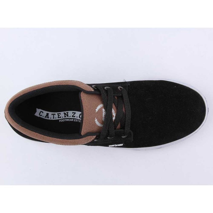 Sepatu Casual Sneaker Pria | Kulit Sintetis | Hitam - Catenzo TF 105