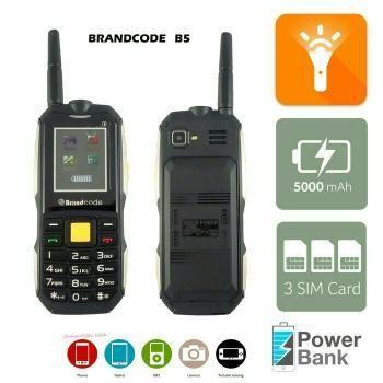 harga Brandcode b5 slim 3 sim hp/ powerbank 5.000mah - garansi resmi 1 th Tokopedia.com