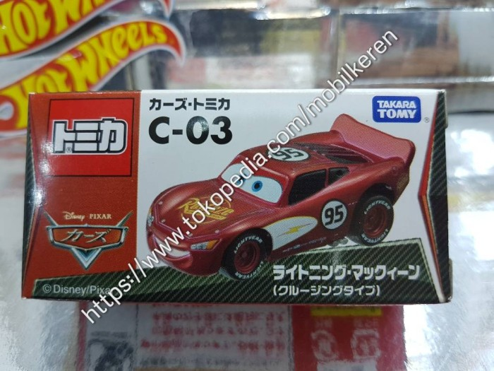 jual tomica c-03 disney pixar the cars lightning mcqueen