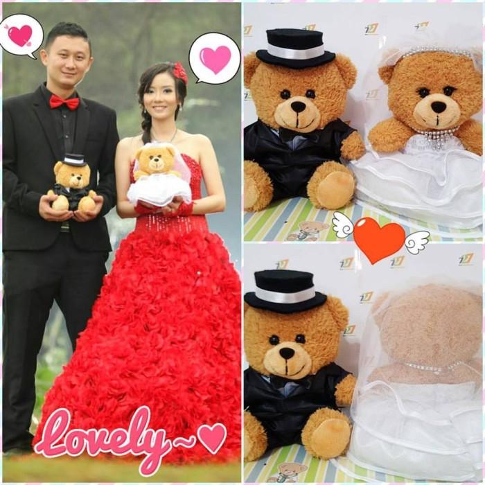 Jual Boneka Teddy Bear Wedding Kado Pernikahan Souvenir Valentine ... 1bf8806c1e