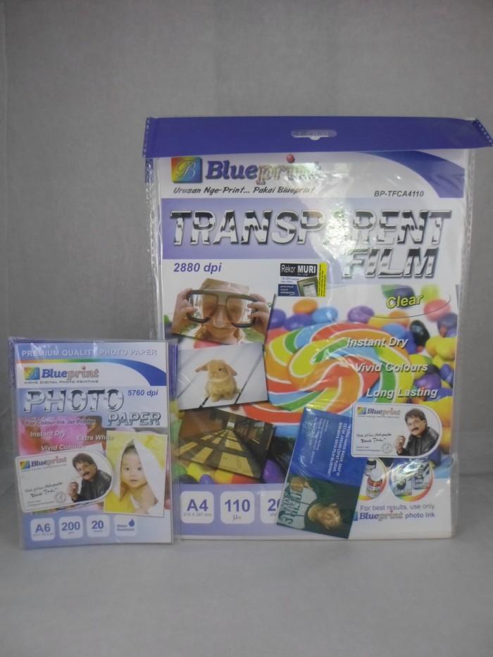 harga Blueprint transparent film clear bonus 1pak kertas glossy a6 Tokopedia.com