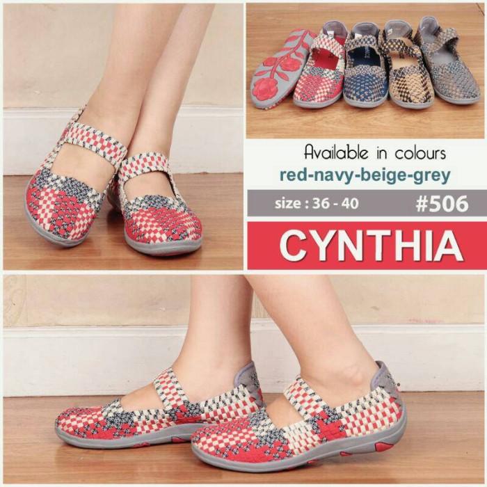 sepatu rajut anyam, sepatu rajut anyaman Cynthia type 506