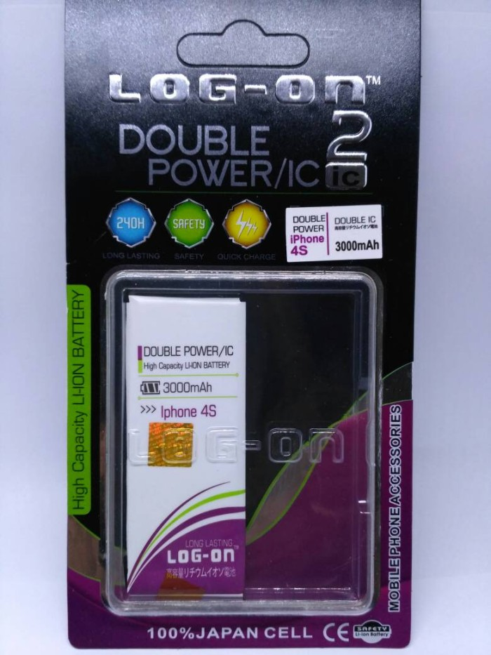 harga Baterai iphone 4s double power merk log on batre battery iphone 4s Tokopedia.com