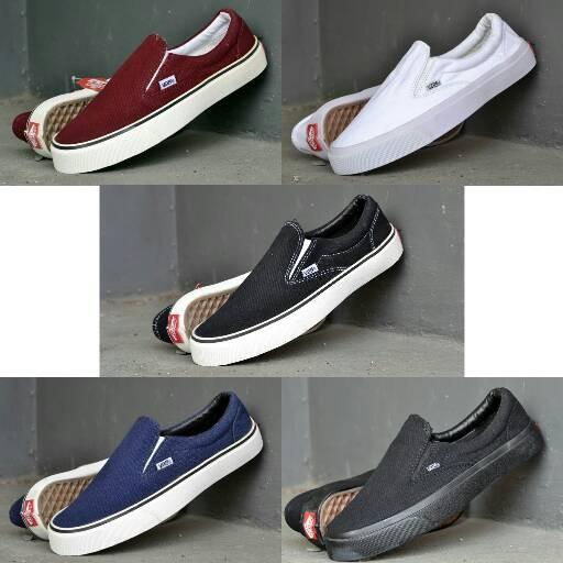 Jual Sepatu Vans Slip On Sepatu Pria Sepatu Slop Sneakers Sport