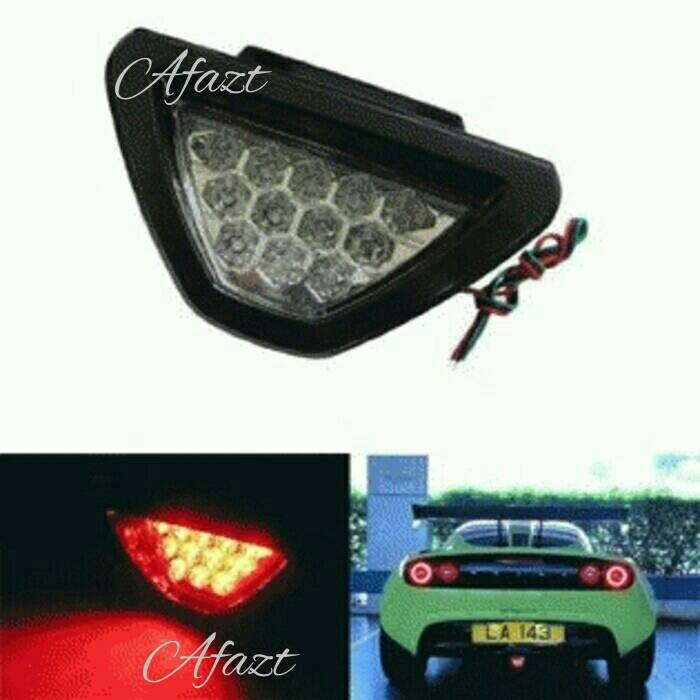 Lampu Rem Stop Lamp Segitiga model F1 Strobo Brakelamp Waterproof