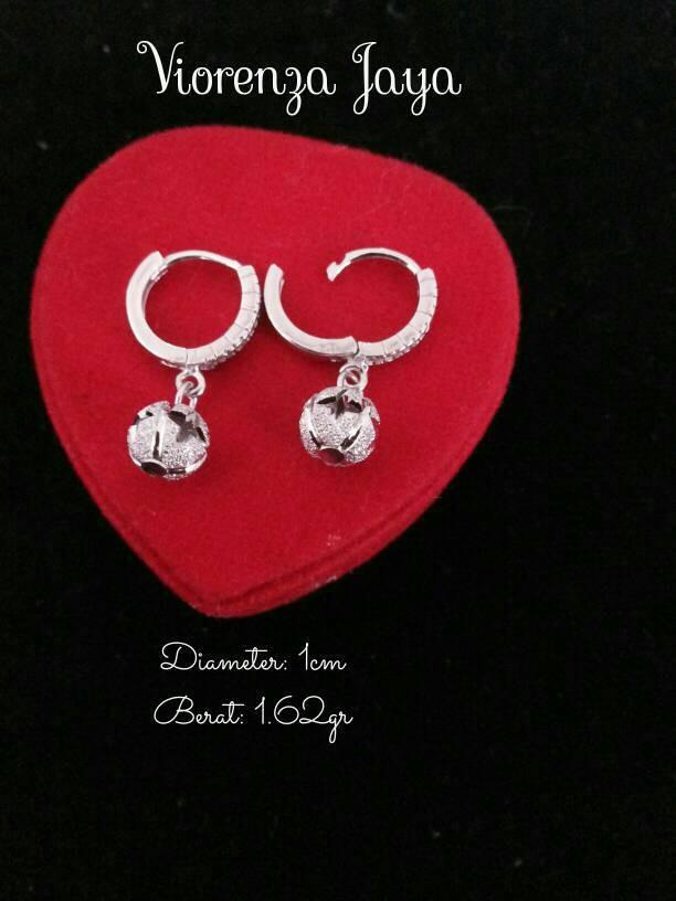 harga Anting Jepit Bola Perak 925 / Perhiasan Silver Lapis Emas Putih/earing Tokopedia.com