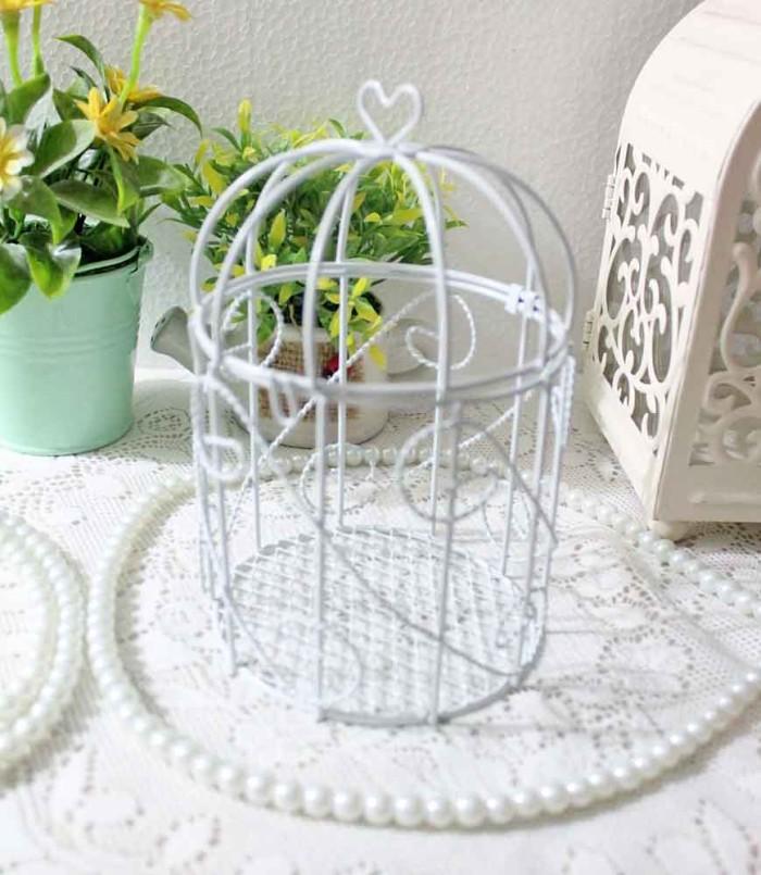 harga Sangkar burung putih birdcage bird cage putih shabby chic kecil a1 Tokopedia.com