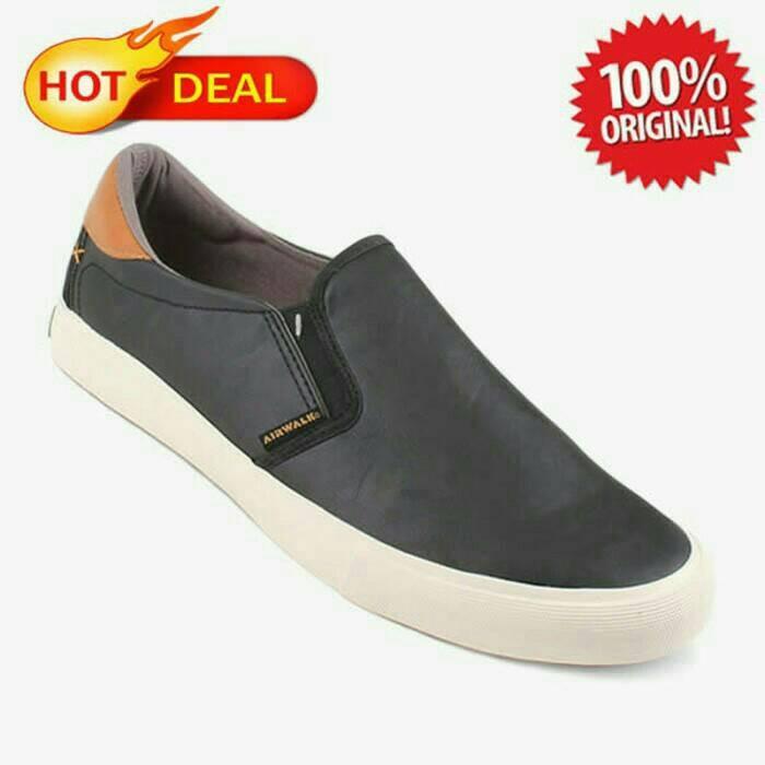 harga Airwalk harva black sepatu slip on wakai original converse murah ori Tokopedia.com