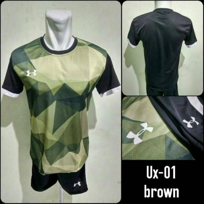 Jual Baju Kaos Setelan Futsal Under Armour Ux-01 Brown Jersey Futsal ... d95bb1a71c