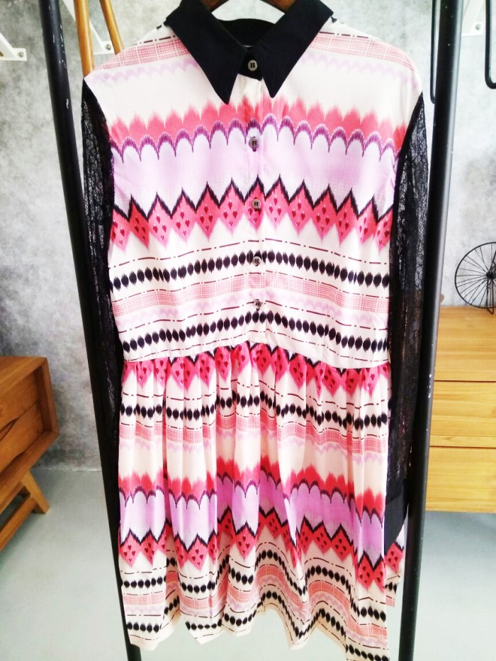 harga Dress batik etnik atasan wanita ethnic motif abstrak kemeja fashion Tokopedia.com
