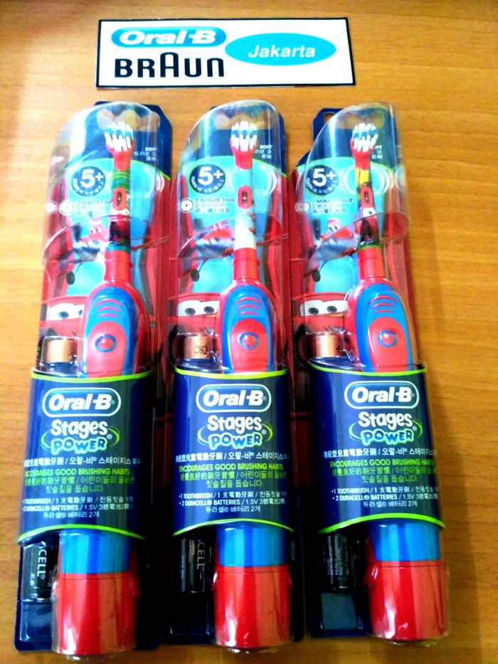 Jual Sikat Gigi Elektrik Anak Oral B Stages Power Kids Cars 5+ ... ae98d26961