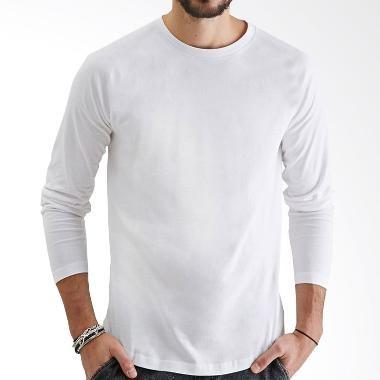Jual Kaos Polos Katun Combed 30s Lengan Panjang Longsleeve Warna Putih Ls Kaos Putih M Jakarta Barat Indo Jersey Tokopedia