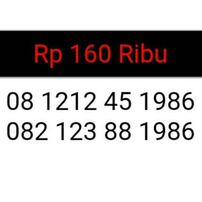 harga Kartu perdana nomor cantik seri double ab 12 12 ,tahun lahir 1986 #dt4 Tokopedia.com