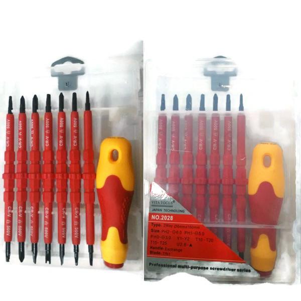 harga Obeng listrik / obeng elektrik / electric screwdriver set 8 pcs Tokopedia.com