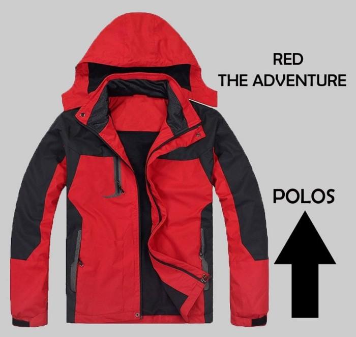 Jaket gunung red polos