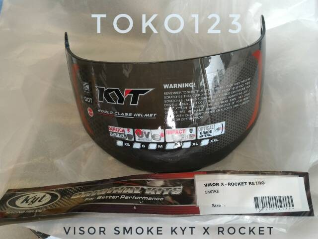 harga Kaca helm kyt x rocket warna hitam Tokopedia.com