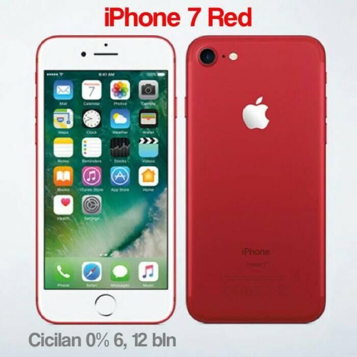 harga Iphone 7 128gb warna merah / garansi international 1thn Tokopedia.com