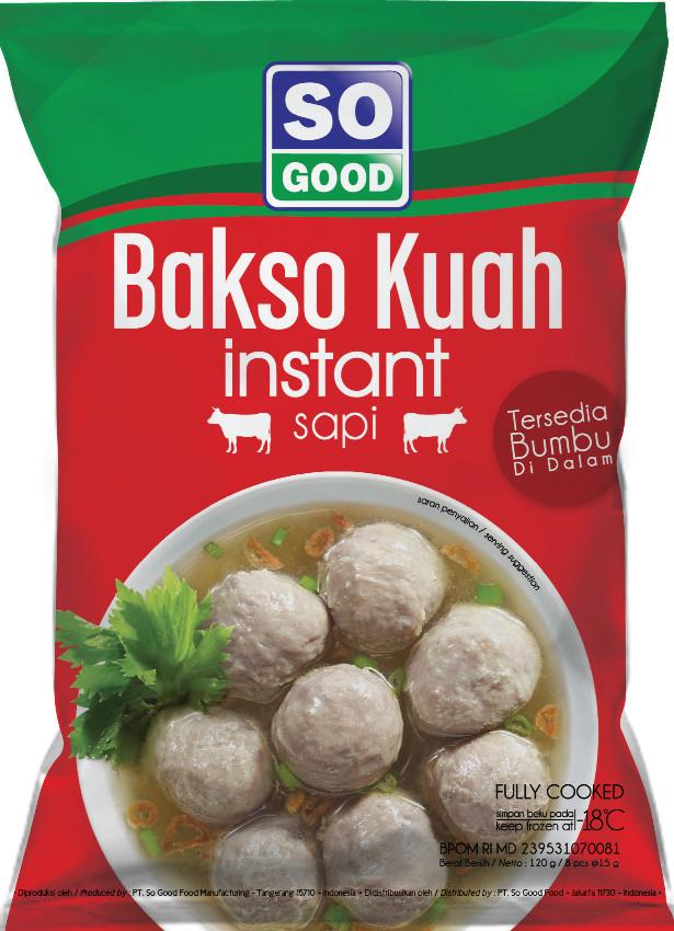 harga Promo so good bakso kuah sapi / bakso / naget / sogood / 120gram Tokopedia.com