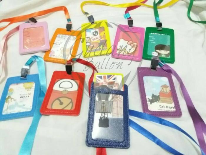 jual id card holder kulit  gantung id card  tempat name
