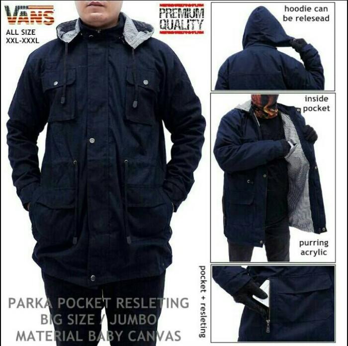 harga Jaket parka pria big size xxxl hoodie vans marun navy hitam army Tokopedia.com
