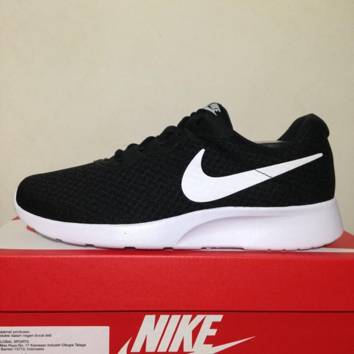 Jual Sepatu Running Lari Nike Tanjun Black White 812654-011 Original ... b327a9f3fe17