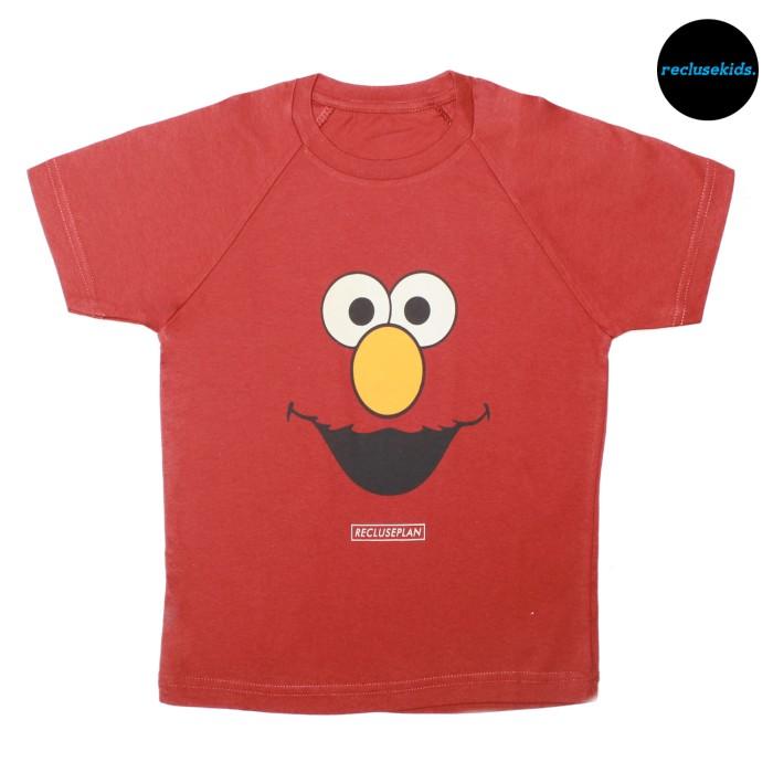 Kaos anak / tshirt anak merah bata le elmo