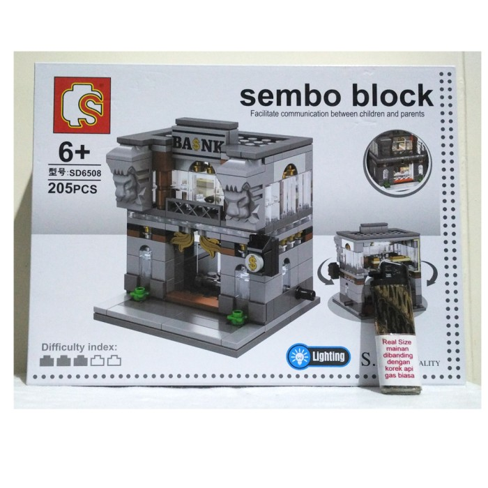 Jual Lego City Bank With Led Lightning Sembo Block Diskon Rasa