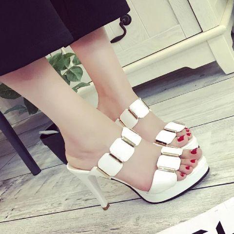 harga High hells wanita/heels us03 putih grosir sepatu wanita perempuan cewe Tokopedia.com