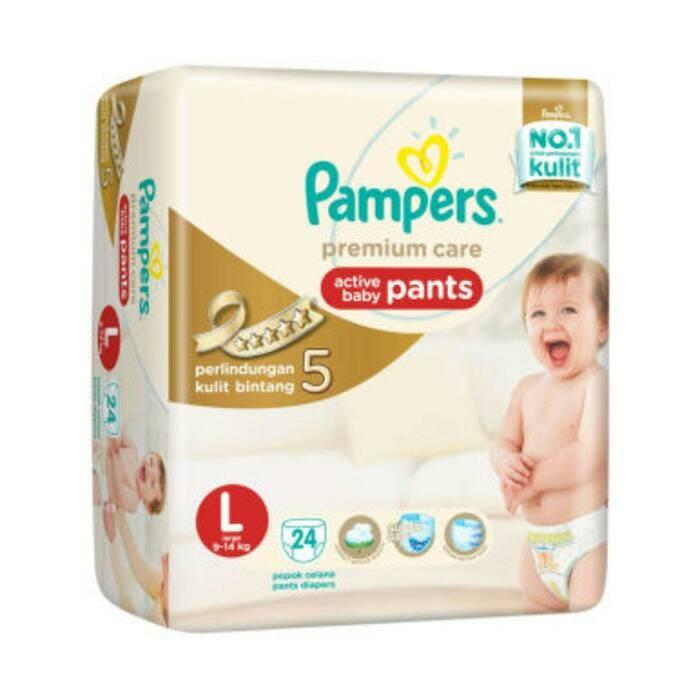 harga Pampers premium care pants l24 / l 24 (khusus gosend / gojek) Tokopedia.com
