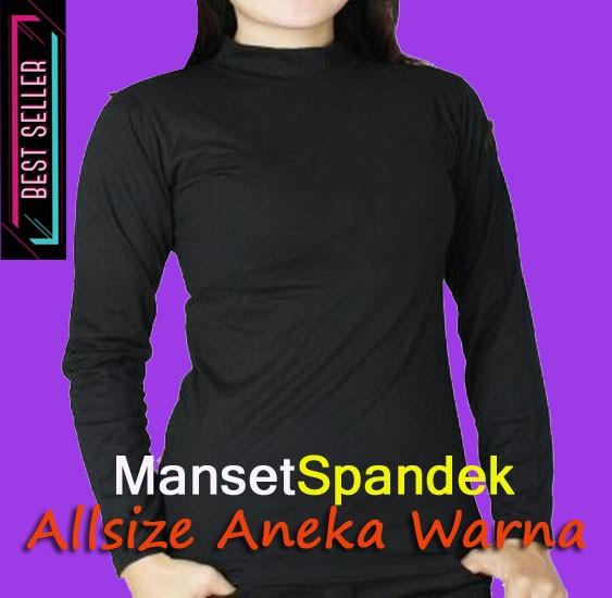 Baju atasan manset polos all size - aneka warna manset wanita