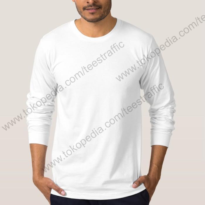 Jual Kaos Polos Lengan Panjang Dewasa Putih Oblong Pdp001 Gambar